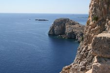 Free Lindos - Coastline Royalty Free Stock Image - 16202466