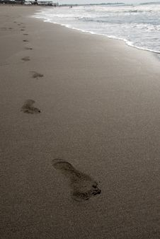Free Steps On The Beach Royalty Free Stock Photography - 16203147