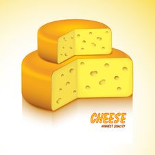 Free Swiss Cheese. Vector Illustration. Stock Images - 16204254