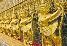 Garuda Golden Statue In Bangkok Stock Photos