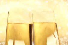 Free Glasses Of Champagne Royalty Free Stock Photo - 16205575