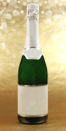 Free Bottle Of Champagne Royalty Free Stock Image - 16205586