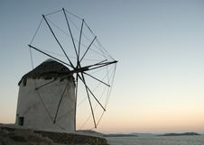 Free Santorini Windmill Royalty Free Stock Photo - 16205795