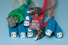 Free Network Connectors Royalty Free Stock Photo - 16206435