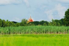 Free Rural Landscape With Temple In Thailand Stock Photos - 16206553