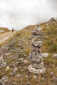 Free Pilgrims On The Road To Santiago Stock Photography - 16206662