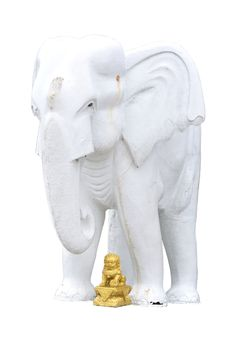 Free White Elephant Statue Royalty Free Stock Photo - 16207105