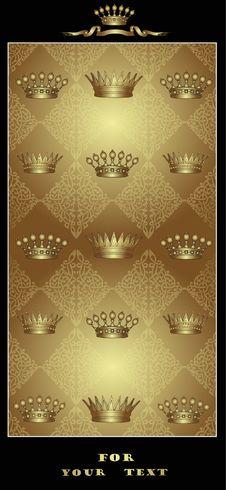 Gold Royal Post Card Royalty Free Stock Photography