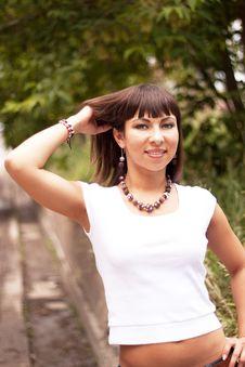 Free Beautiful Girl In The Fashion Jewelry Royalty Free Stock Image - 16207416