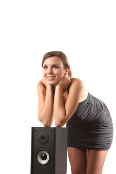 Free A Girl And A Speaker Stock Images - 16207564