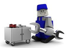 Mechanic With Tools Royalty Free Stock Image