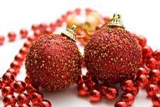 Free Christmas Decorations On White Background Stock Photography - 16208032