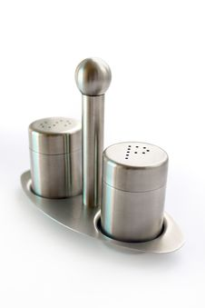 Free Stainless Steel Set Of Salt And Pepper Royalty Free Stock Images - 16208119