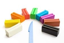 Free Multicolored Plasticine With Plastic Knife Royalty Free Stock Photos - 16208218