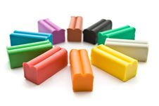 Free Multicolored Plasticine With Plastic Knife Stock Photo - 16208230