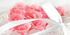 Free Rose Flowers Pink And White Soap Stock Photos - 16208393