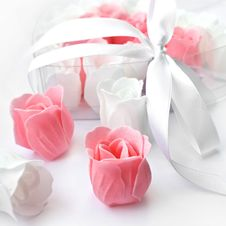 Free Rose Flowers Pink And White Made Of Soap Royalty Free Stock Images - 16208399