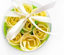 Free Rose Flowers Yellow Made Of Soap Stock Photo - 16208480