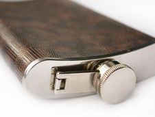 Free Hipflask For Alcohol On White Royalty Free Stock Images - 16208639