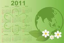 Free 2011 Calendar. Stock Images - 16209244