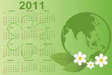 2011 Calendar. Stock Images