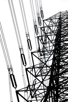 Free Electric High Voltage Post Royalty Free Stock Photos - 16209648