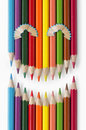 Free Smiling Face Of Color Pencils Stock Images - 16214404