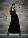 Free Beautiful Model Girl Near Brick Wall Royalty Free Stock Photo - 16215035
