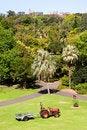 Free City Garden With Tractor Stock Photos - 16217953