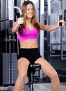 Free Lady Doing Chest Press Stock Photo - 16218080