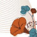 Free Floral Design Vector Stock Photography - 16219132