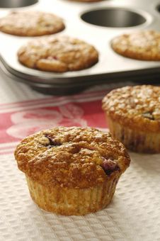 Blueberry And Lemon Muffins Stock Photo