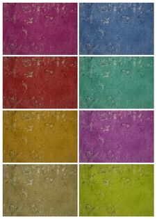 Colorful Holey Grunge Wall Set Stock Images