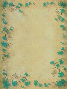 Free Aquamarine Blossom Flower Border Background Stock Images - 16211004