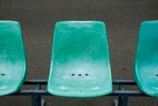 Free Row Of Green Chairs Stock Image - 16211161