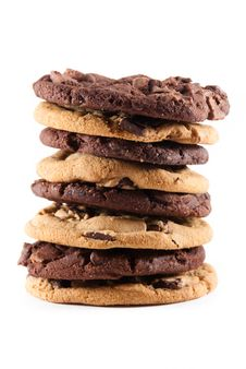 Free Stack Cookies Against An Isolated Background Royalty Free Stock Photo - 16211415