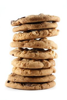Free Tall Stack Of Cookies On An Isolated Background Stock Image - 16211431