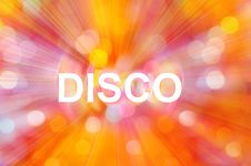 Free Abstract Background With Inscription Disco Stock Photo - 16211840