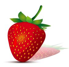 Free Falling Strawberries. Royalty Free Stock Photography - 16212287