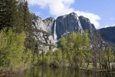Free Upper Fall Yosemite Valley Royalty Free Stock Photo - 16212295