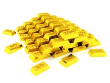 Free Hill Of Golden Bars Stock Image - 16213461
