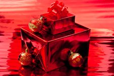 Red Christmas Background Royalty Free Stock Image