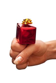 Free Red Gift Box On Woman S Hand Stock Photo - 16213480