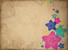 Free Retro Paper With Stars Stock Images - 16214564