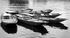 Wooden  Row Boats Royalty Free Stock Photography