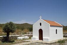Free Greek Chapel Royalty Free Stock Photo - 16215225