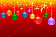Hanging Christmas Ball Stock Photography