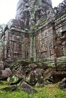 Ruined Temple, Cambodia Stock Photos