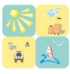 Free Rest And Travel Icons Stock Images - 16216264