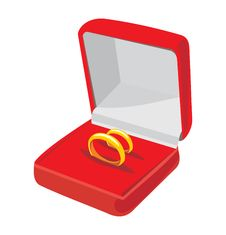Free Box With Wedding Rings Royalty Free Stock Images - 16216409